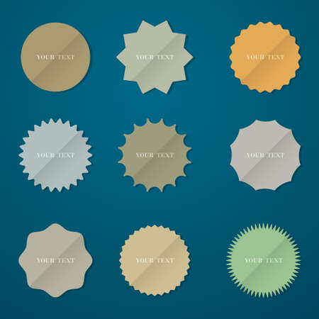 Collection of various round stickers  Vector