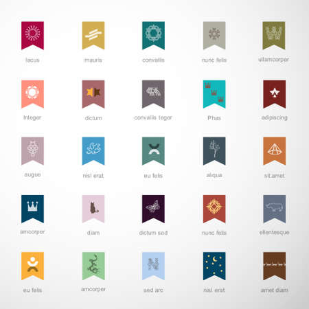 Emblems and elements for design  Vector set 2 of 3 Vector