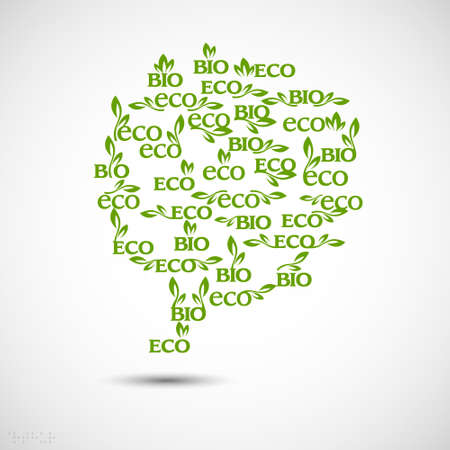 natural resources: Big speech bubble made from Eco-icons