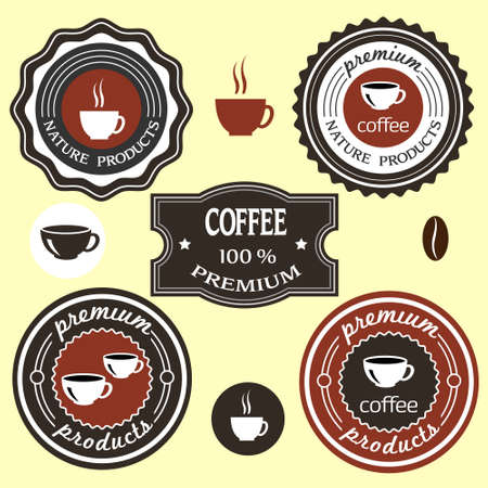 coffee shop: Coffee labels for design  set  Illustration