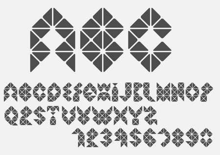 Original mosaic Alphabet   Vector