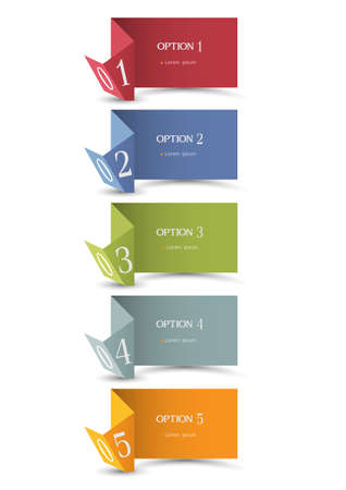 Paper origami numbered banners Stock Vector - 15491774