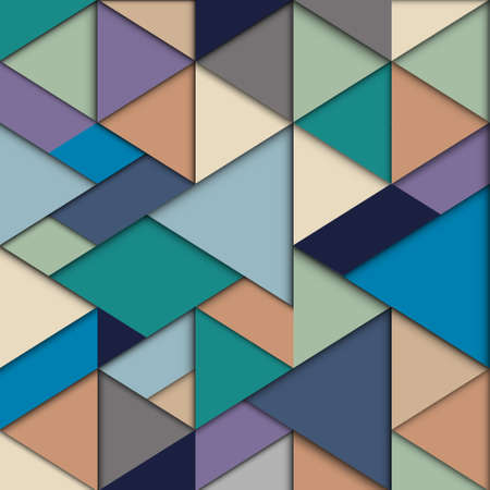 Origami background in retro colors  Vector