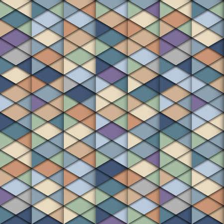 paper fold: Retro  geometric structure