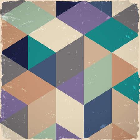 Retro geometric background in grunge style Stock Vector - 15491792