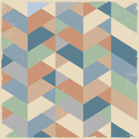 Retro geometric background in pastel colors Vector