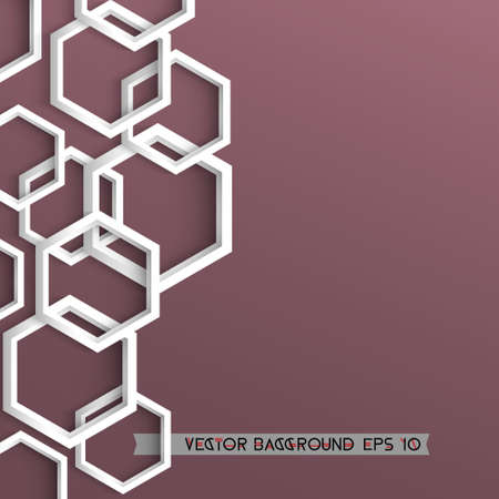 multifaceted: 3d stylish geometric background with hexagons