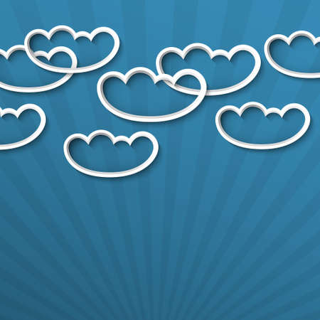 3d white clouds  Vector illustration Vector
