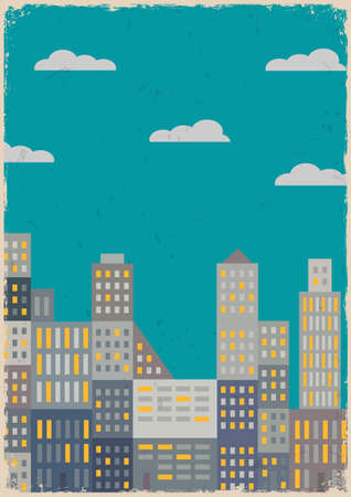 City in grunge style  Vector illustration Vector