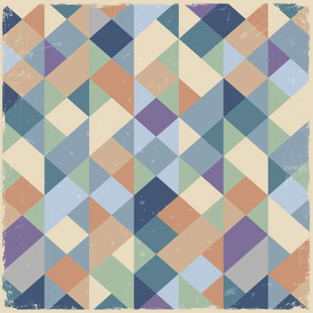 Geometric retro background in pastel colors Vector
