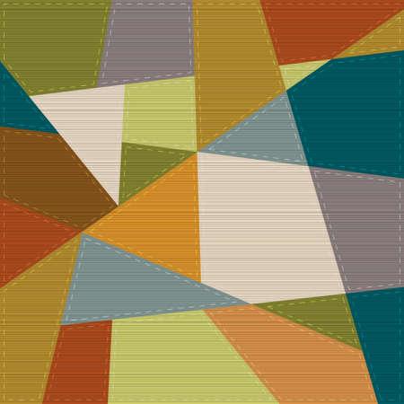 cubismo: Fondo retro geom�trico en estilo patchwork Vectores