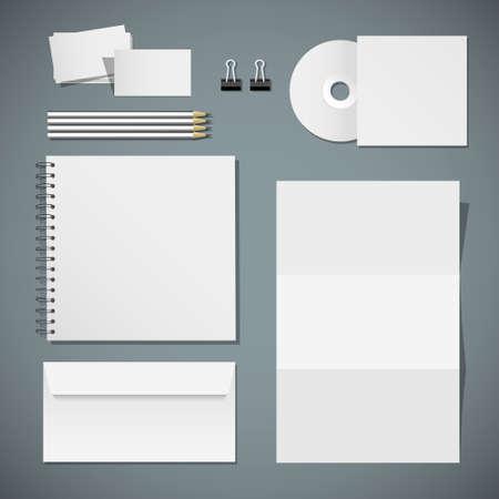 identitat: Set der Corporate Identity Vorlagen