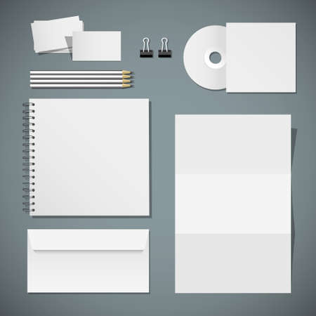 Set of corporate identity templates   Vector