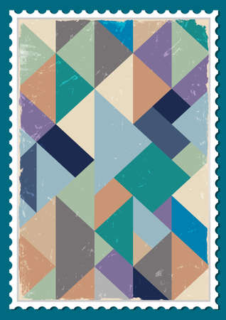 Vector sello de correos con diseño retro