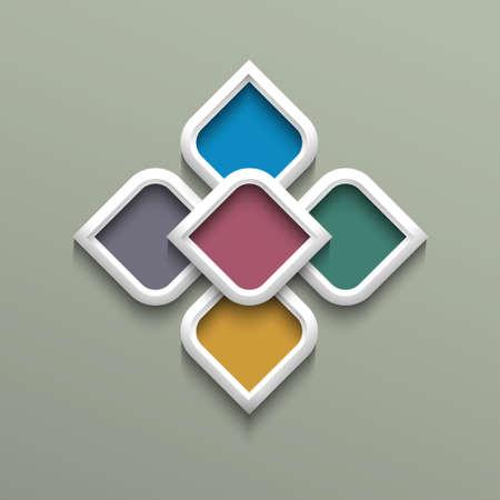 Patrón de color 3d en estilo árabe.