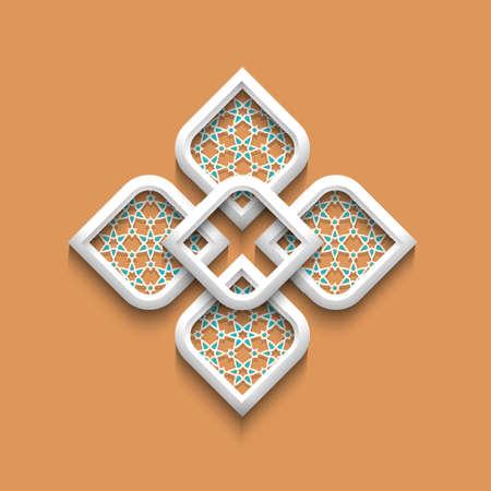 arabesque: 3d modello elegante in stile arabo.