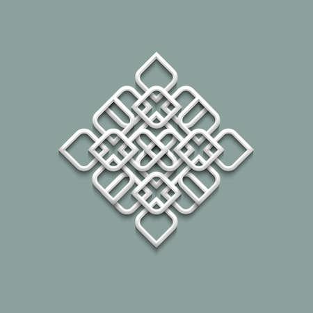 motive: 3D-Muster im arabischen Stil.
