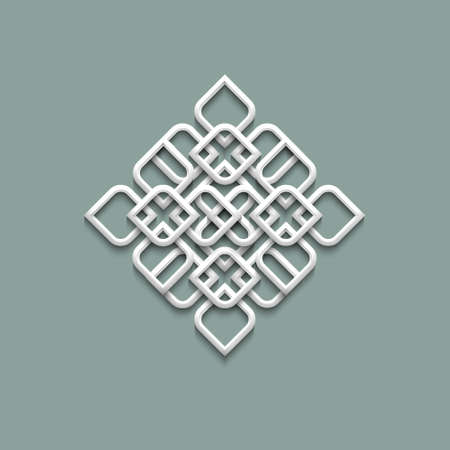 arabesque: 3d pattern in arabic style.