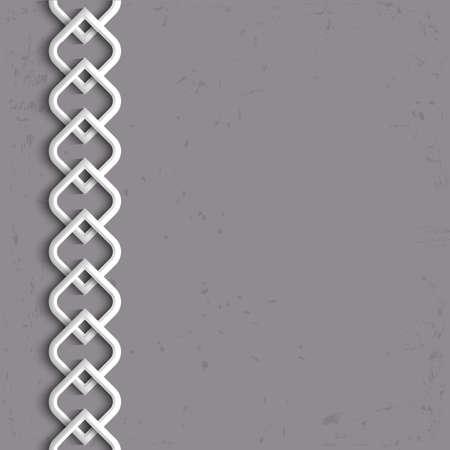 arabesque: 3d bordo bianco in stile arabo. Vettoriali