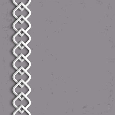 ottoman: 3d white border in arabic style.