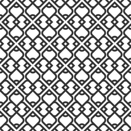 geometric: Black and white islamic seamless pattern.  Illustration