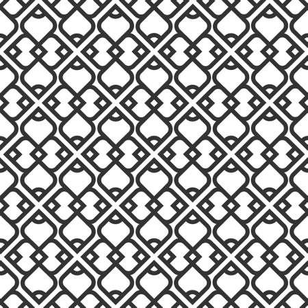 arabisch patroon: Zwart-wit islamitische naadloos patroon. Stock Illustratie