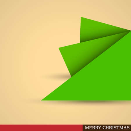 Creative Christmas tree formed from pieces of paper. Stock Vector - 15545240