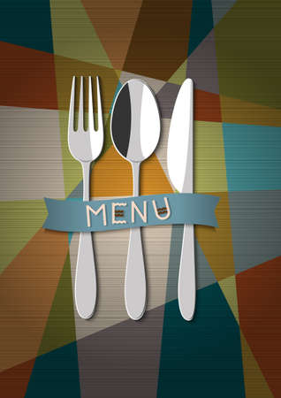 restaurant card menu design  Stock Vector - 15545329