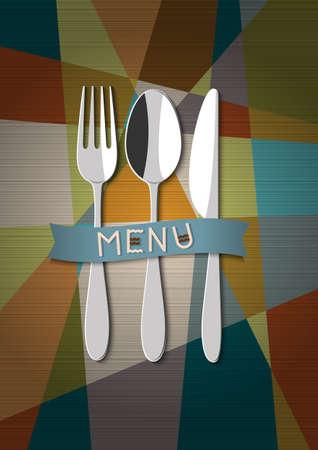 ristorante card design del menu