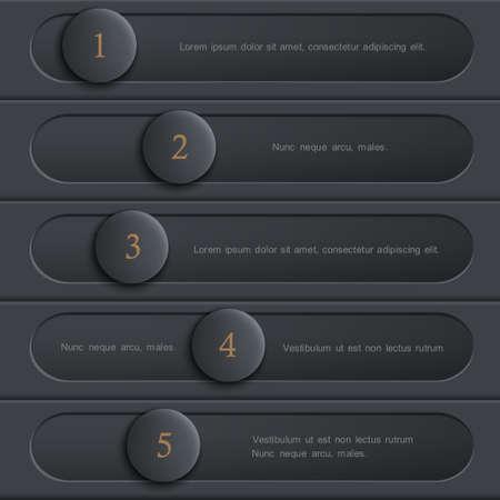 Black design website layout. Vector creative template Illustration