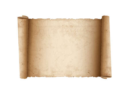 Horizontal Old Scroll paper. Vector eps10 Vector