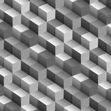 monochromatic: Monochrome vector background with cubes