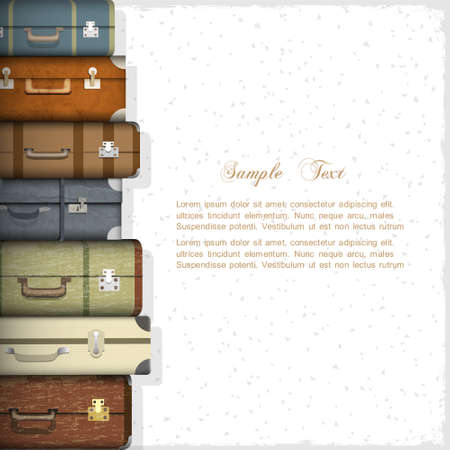 luxury travel: Vector background with suitcases Illustration