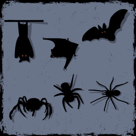 cobwebby: Vector set of spiders and bats