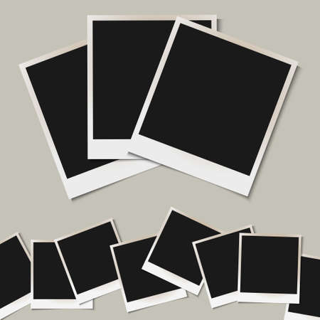 set of  isolated Photo frames Vector