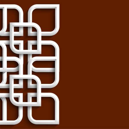 osmanisch: 3d Ornament im arabischen Stil. Vector illustration