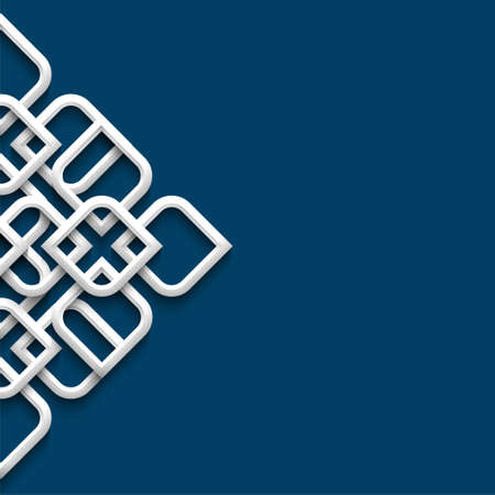 patron islamico: Adorno blanco 3d en estilo �rabe. Ilustraci�n vectorial