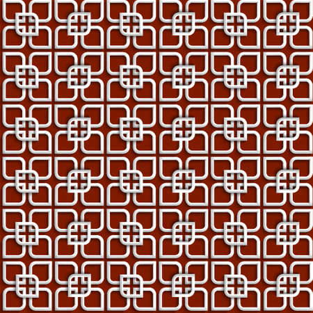 3d white pattern in islamic style. Seamless vector illustration Stock Vector - 16237910