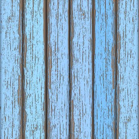 Azul claro cerca de madera vieja. Vector de fondo Ilustración de vector
