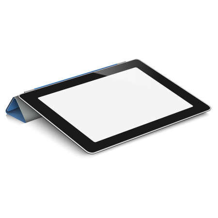 Vecteur pc ordinateur tablette sur fond blanc