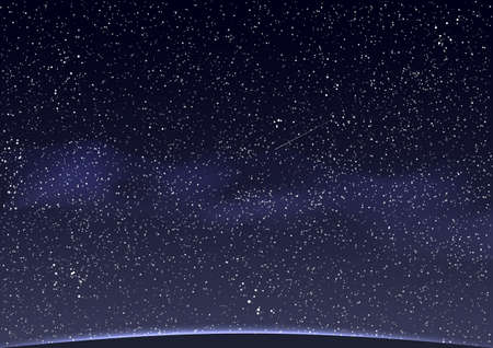 meteor shower: Abstract Space background. Vector illustration