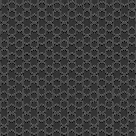 Black textured Islamic pattern. Vector seamless background Illustration