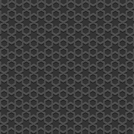 metaal: Zwarte getextureerde Islamitische patroon. Vector naadloze achtergrond