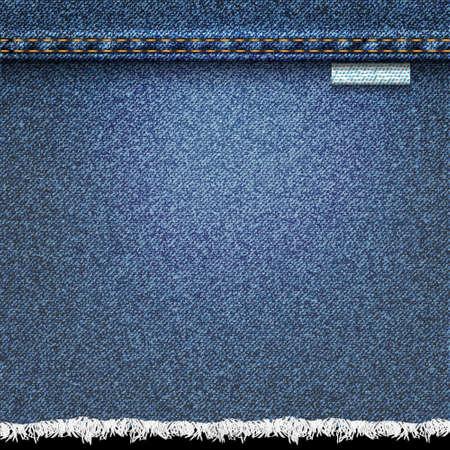 jeansstoff: Denim Hintergrund. Vector realistische Textur