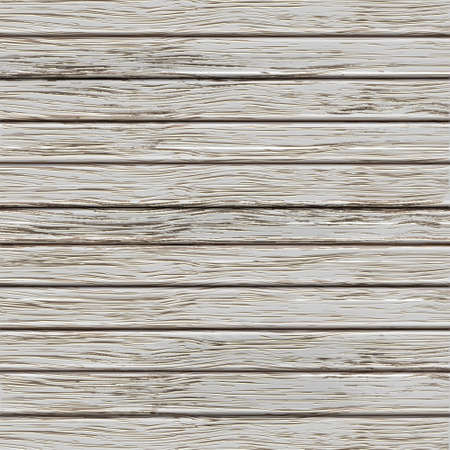 wood grain background: Grey old wooden texture. Vector illustration  Illustration