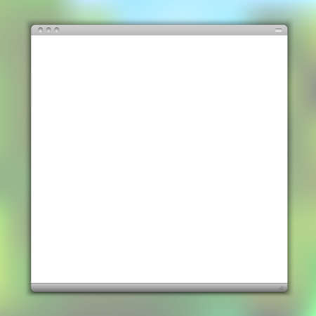 screenshot: Simple vector browser window  Illustration
