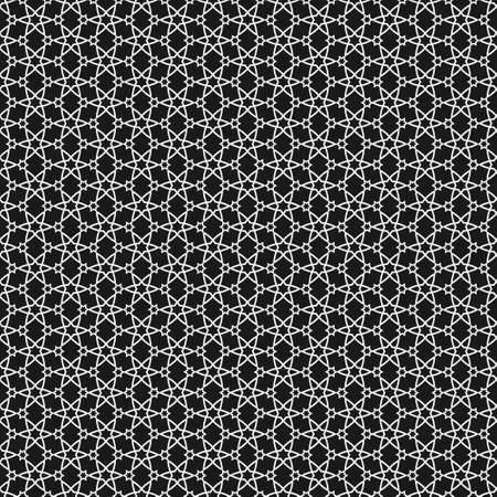 Vector black and white islamic pattern  Illustration