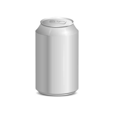 Blank aluminum can. Realistic vector illustration Vector