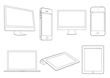 pc: Digital devices.Vector set