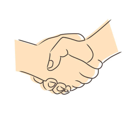Drawing of handshake. Vector illustration Stock Vector - 16470023